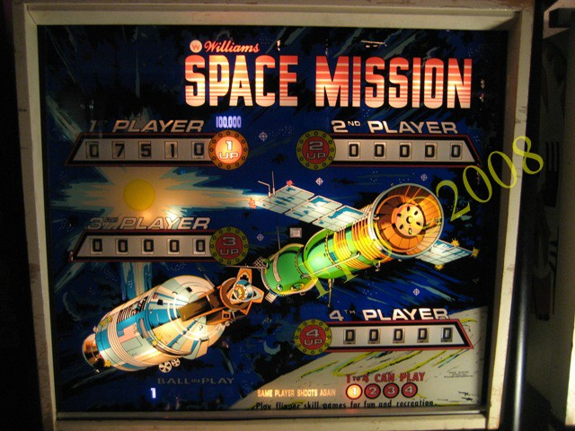 Space Mission Pinball Flyer (page 4) - Pics about space